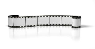 Longue piste de film photo stock