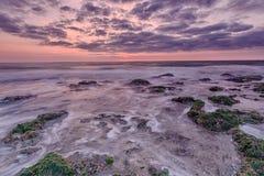 Longue plage d'exposition (HDR) Photos stock