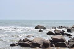 Longue plage de Hai, ville de Ria de Ba, Vietnam Image libre de droits