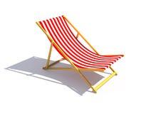 Longue rosso del chaise Fotografie Stock