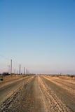 Longue route Images libres de droits