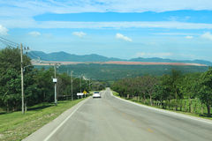 Longue route Photo stock