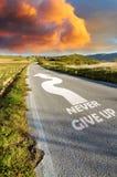 Longue route dure image libre de droits