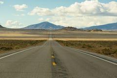 Longue route en Amérique photographie stock