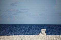 Longue on the sea Royalty Free Stock Image