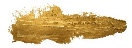 Longue tache d'or de peinture à l'huile de calomnie d'isolement illustration de vecteur