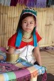 Longue tribu de cou Photographie stock