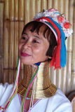 Longue tribu de cou en Thaïlande Photographie stock