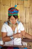 Longue tribu de cou en Thaïlande Photo stock