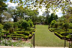 Longue Vue House and Gardens in New Orleans. A view of the garden at the Longue Vue House and Gardens in New Orleans, Louisiana, USA royalty free stock images