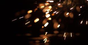 Longues étincelles de magnésium d'exposition Photos libres de droits