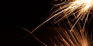Longues étincelles de magnésium d'exposition Photos stock