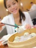 Longues boulettes de soupe à bao/xiaolongbao de Xiao Photos stock