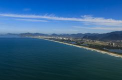 Longues et merveilleuses plages, plage de DOS Bandeirantes de Recreio, Rio de Janeiro Brazil photographie stock libre de droits