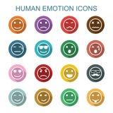 Longues icônes d'ombre d'émotion humaine illustration libre de droits