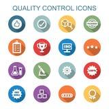 Longues icônes d'ombre de contrôle de qualité illustration libre de droits