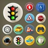 Longues icônes d'ombre de navigation illustration stock