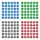 Longues icônes de style d'ombre Photographie stock libre de droits