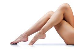 Longues pattes de femme Images stock