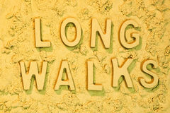 Longues promenades Image libre de droits