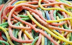Longues sucreries colorées de gelée image libre de droits