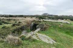 Longues sur梅尔德国地堡  法国诺曼底 图库摄影