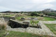 Longues sur梅尔德国地堡  法国诺曼底 免版税库存照片