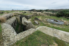 Longues sur梅尔德国地堡  法国诺曼底 库存图片