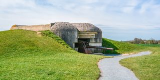 Longues sur Mer battery, Normandy, France. The Longues-sur-Mer battery was a World War II artillery battery constructed by the Wehrmacht near the French village Stock Photo