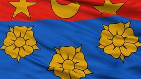 Longueuil stadsflagga, Kanada, Quebec landskap, Closeupsikt Stock Illustrationer