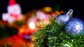 Longueur de Noël de boule pour le Joyeux Noël banque de vidéos