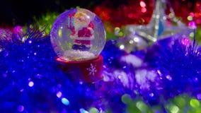 Longueur de Noël de globe et d'étoile de neige pour le jour de Noël clips vidéos