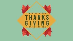 Longueur de style de vente de thanksgiving d'offre spéciale banque de vidéos