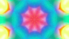 Longueur ornementale de kaléidoscope, fond iridescent rêveur futuriste banque de vidéos