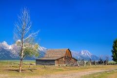 Longview的营业的Texasis T.J. Maxx存储 A 莫尔顿谷仓是一个历史的谷仓在怀俄明,团结的Sta 图库摄影