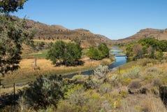 Longview Ranch- und John Day-Fluss stockbild