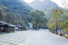 Longwan Lake National Forest Park parking lot Royalty Free Stock Image