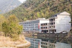 Longwan Lake National Forest rural home inns Stock Photos
