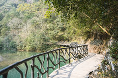 Longwan lake and Path Royalty Free Stock Images