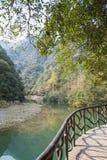 Longwan lake and Path Royalty Free Stock Photo