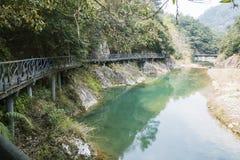 Longwan lake and Path royalty free stock photos