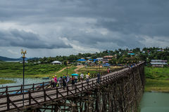 Longwood bridge sangklaburi Royalty Free Stock Photos