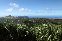 Longwood district and east landscape of St Helena Royalty Free Stock Photo