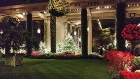 Longwood gardens. In kenneth square Pennsylvania for Christmas Stock Photography