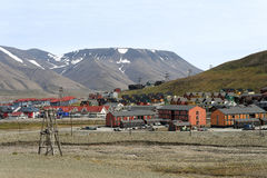 The Longyear Town in Svalbard Royalty Free Stock Images