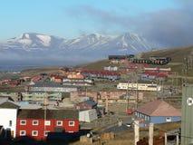longyearbyen городок Стоковое Изображение RF