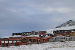 Longyearbyen. A view of some of the houses in the norwegian town of Longyearbyen in Svalbard Royalty Free Stock Image