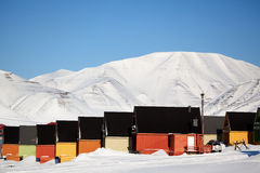Longyearbyen. Norway, the worlds northern most city Royalty Free Stock Photography