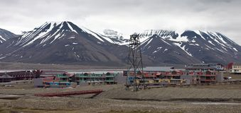 Longyearbyen-The Biggest Settlement on Svalbard Stock Photo