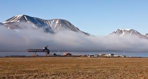 longyearbyen blisko seashore Svalbard Zdjęcia Royalty Free